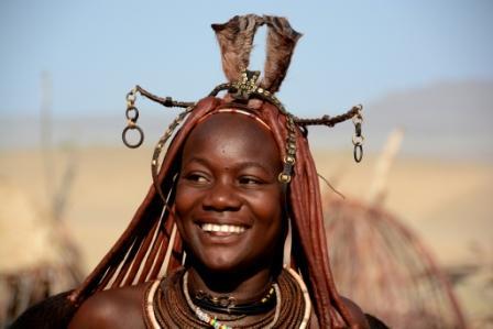 Himba girl smile smaller